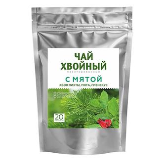 Сибирская клетчатка, Хвойный напиток «С мятой», 40 г