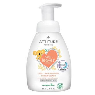 ATTITUDE, Пенка для волос и тела Baby Leaves «Грушевый нектар», 295 мл