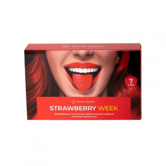 White Secret, Отбеливающие полоски Strawberry Week
