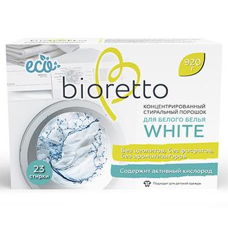 Bioretto, Эко-стиральный порошок для белого белья, 920 г