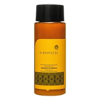 OrganicTai, Массажное масло «Манго и папайя», 100 мл