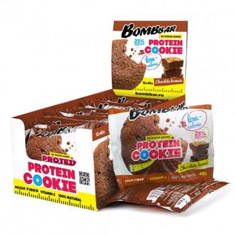 Bombbar, Печенье неглазированное «Шоколадный брауни», 12х40 г