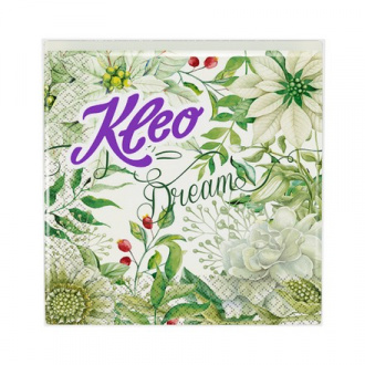 Kleo, Салфетки «Белые цветы», 20 шт.