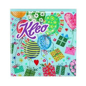 Kleo, Салфетки «День рождения», голубые, 20 шт.