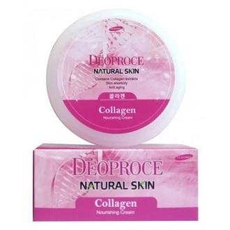 Deoproce, Крем для лица и тела Natural Skin Collagen, 100 г