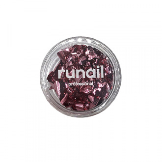 ruNail, Фольга для дизайна ногтей «Поталь», розовое золото