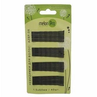 Melon Pro, Невидимки «Волна», черные, 60 мм, 40 шт.