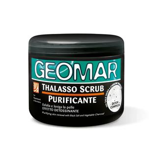 Geomar, Талассо-скраб с черной солью для тела, 600 г