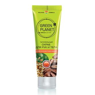 Green Planet, Крем-скраб «Кофе и кунжутное масло», 90 мл