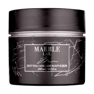 Marble Lab, Скраб для тела «Вулканический пепел», 200 мл