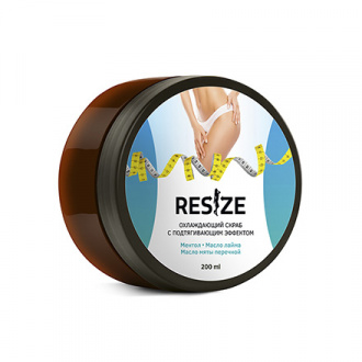 Resize, Охлаждающий скраб для тела, 200 мл