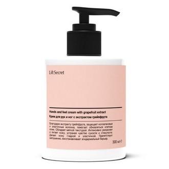 LiftSecret, Крем с экстрактом грейпфрута для кожи рук и ног, 300 мл