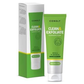 Consly, Пенка для умывания Clean&Exfoliate, 120 мл
