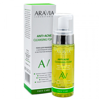 ARAVIA Laboratories, Пенка для умывания Anti-Acne Cleansing Foam, 150 мл