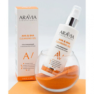 ARAVIA Laboratories, Гель для лица AHA&BHA Cleansing Gel, 150 мл