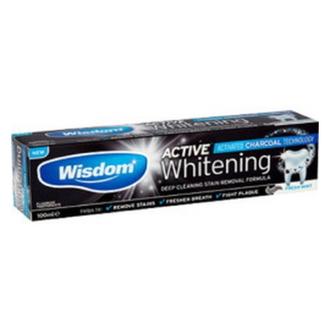 Wisdom, Зубная паста Active Whitening Charcoal, 75 мл