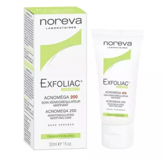 Noreva, Крем для кожи Exfoliac Acnomega 200, 30 мл