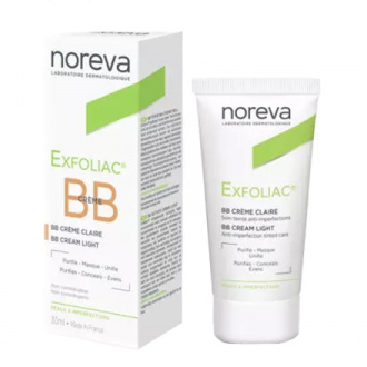 Noreva, ВВ-крем для лица Exfoliac, светлый, 30 мл