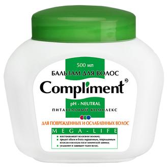 Compliment, Бальзам для волос Mega-Life, 500 мл