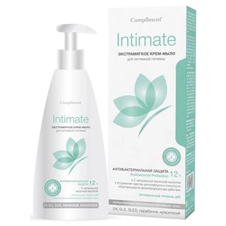 Compliment, Крем-мыло для интимной гигиены Intimate, 250 мл