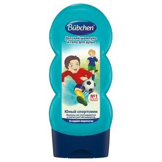 Bubchen, Детский шампунь и гель для душа «Юный спортсмен», 230 мл