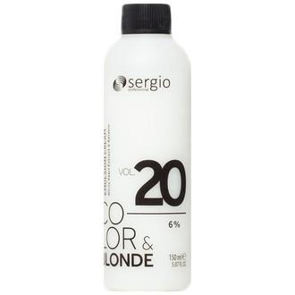Sergio Professional, Крем-окислитель Color & Blonde 20 Vol/6%, 150 мл