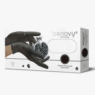 Benovy, Перчатки из термопластичного эластомера, черные, размер L