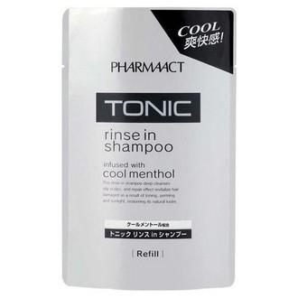 KUMANO COSMETICS,  Шампунь Pharmaact Tonic, сменный блок, 400 мл