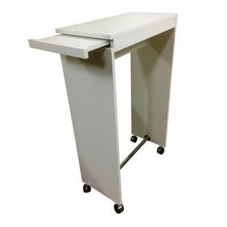 ICG Мебель, Стол маникюрный, подкатной, белый