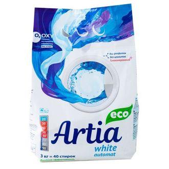 Artia, Экологичный стиральный порошок White, 3 кг