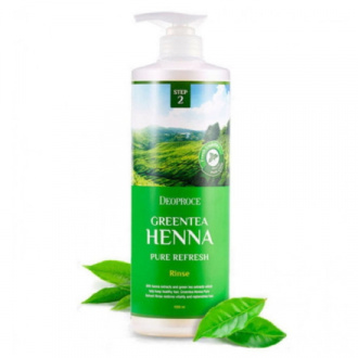 Deoproce, Бальзам для волос Green Tea Henna Pure Refresh, 1 л