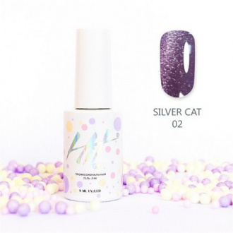 Гель-лак HIT Gel Silver Cat №02