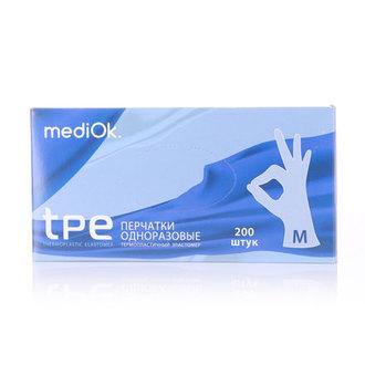 mediOk, Перчатки из термопластичного эластомера, бесцветные, размер М, 200 шт.