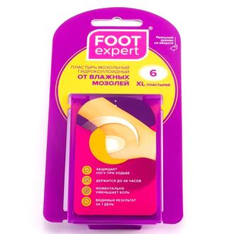 Foot Expert, Пластырь от влажных мазолей ХL, 6 шт.