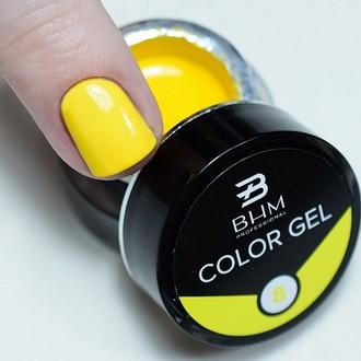 BHM Professional, Гель-краска для ногтей №8, желтая