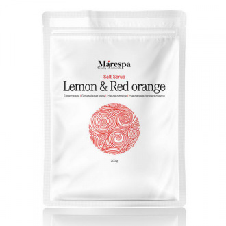 Marespa, Детокс-скраб для тела Lemon & Red Orange, 200 г