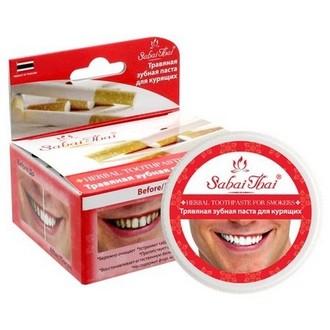 Sabai Thai, Зубная паста «Для курильщиков», 25 г