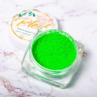 Blesk, Дизайн для ногтей «Неоновый пигмент», зеленый