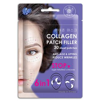 Mi-Ri-Ne, Патчи-филлеры для кожи Collagen «6 в 1», 25 г