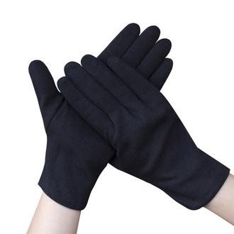 Перчатки хлопковые, черные, размер M, 1 пара