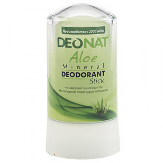 Deonat, Минеральный дезодорант Aloe, 60 г