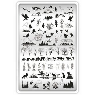 TakiDa, Пластина для стемпинга №23 «Природа»