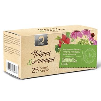 Алтэя, Травяной чай «Чабрец & эхинацея», 25 фильтр-пакетов