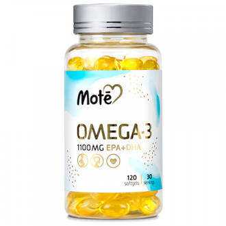 Mote, Омега-3, 1100 мг, 120 капсул