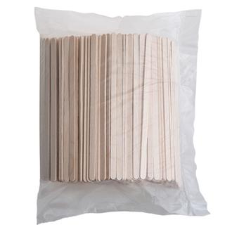 ЭКО-Вуд, Шпатели косметические деревянные, длинные, 100 шт.