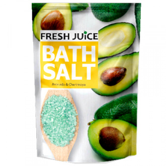 Fresh Juice, Соль для ванн Avocado & Cherimoya, 500 мл