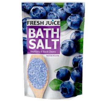 Fresh Juice, Соль для ванн Blueberry & Black Cherry, 500 мл
