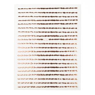 Monami Professional Professional, Наклейки «Волна», розовое золото