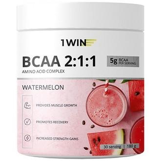1WIN, Аминокислоты BCAA 2:1:1 «Арбуз», 180 г