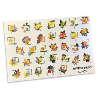 iNVENT PRiNT, Слайдер-дизайн «Листья. Осень. Веточки. Геометрия» №36